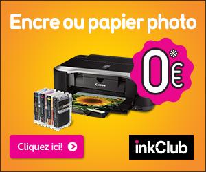Codes promo InkClub.com (FR) et cashback InkClub.com (FR) - 3 € de réduction