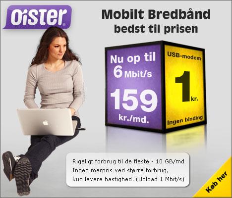 oister mobilt bredb�nd og internet