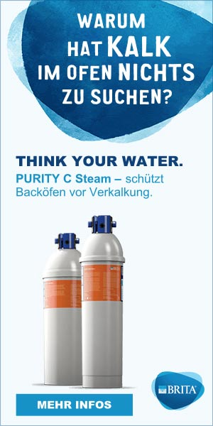 THINK YOUR WATER. PURITY C Steam - schützt Backöfen vor Verkalkung.
